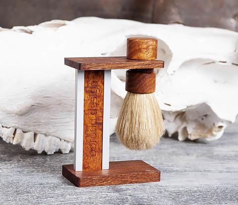Помазок из щетины кабана с подставкой, лаосский палисандр