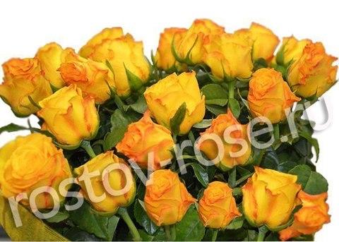Букет 15 местных желтых роз