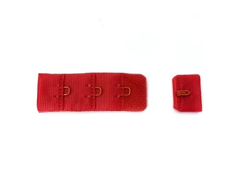 Застежка с крючками красная 1 ряд (цв. 100)