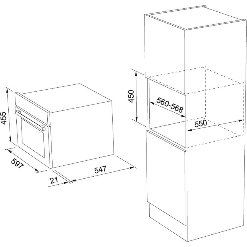 Компактный духовой шкаф Franke FSO 45 FS C TFT BK XS