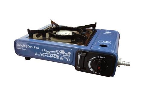 Портативная газовая плита Camping Guru Plus TS-233 с переходником