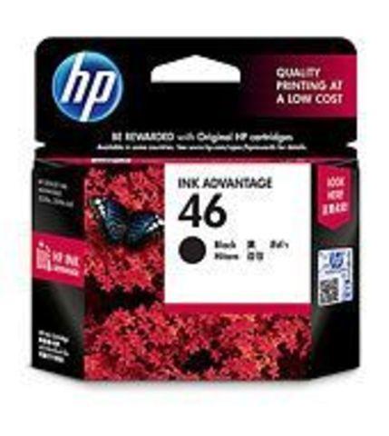 Картридж чёрный HP №46 CZ637AE для HP Deskjet Ink Advantage Ultra 2020hc, 2520hc, 2029, 2529, 4729. Ресурс 1,500 стр.