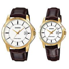 Парные часы Casio Standard: MTP-V004GL-7A и LTP-V004GL-7A