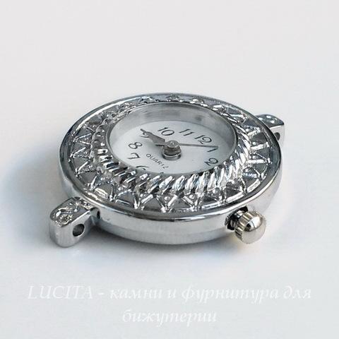 Основа для часов (цвет - платина) 32х27х7 мм