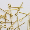 Комплект штифтов с петлей 18х0,7 мм (цвет - золото), примерно 100 штук