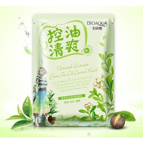 Освежающая маска с маслом чайного дерева BIOAQUA NATURAL EXTRACT, 30 гр.