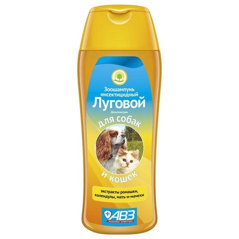 Шампунь Луговой инсектицидный для кошек и собак с экстрактами трав 270мл
