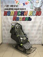 Санки-коляска Galaxy Snow Kids-3-2-C (бронза)