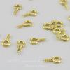 Штифт с петлей винтовой 8х4х1 мм (цвет - золото), 20 штук