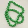 Бусина Жадеит (тониров), шарик, цвет - зеленый, 8 мм, нить