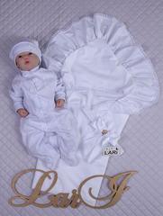Летний набор на выписку из роддома Мечта (белый, для девочки)