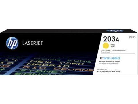 Картридж желтый HP 203A Color LaserJet Pro MFP M254/280/281. Ресурс 1300 страниц (CF542A)