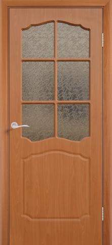 Дверь Сибирь Профиль Классика, цвет миланский орех, остекленная
