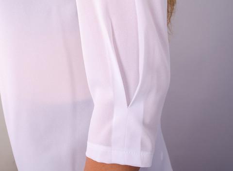Кортні. Ошатна жіноча блузка великих розмірів. Білий.