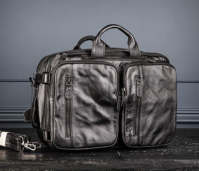 BAG512-1 Портфель рюкзак трансформер из натуральной кожи