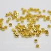 Кримпы - зажимные бусины 2х1,2 мм (цвет - золото) 2 гр (примерно 150-160 штук)