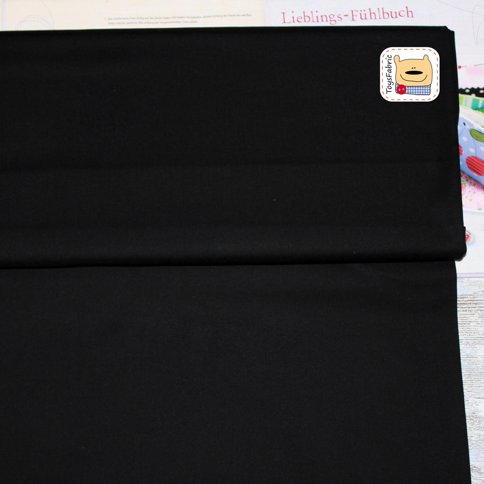 Ткань для пэчворка 20514 (однотонный черный)