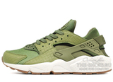 Кроссовки Женские Nike Air Huarache Premium Olive Green White