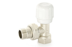Вентиль ручной угловой Uni-Fitt 3/4 для радиатора