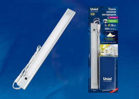 ULI-F40-5W/4200K SENSOR IP20 SILVER Светильник линейный светодиодный ультратонкий, с бесконтактным выключателем. 300Х30х8мм. 210Lm. Серебристый. ТМ Uniel