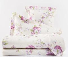 Постельное белье 1.5 спальное Mirabello Rododendri с розовыми цветами