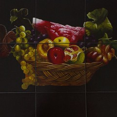 Стол с плиткой СТ 3760Р (Корзина с фруктами) Венге