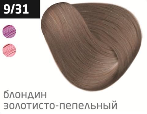 OLLIN performance 9/31 блондин золотисто-пепельный 60мл перманентная крем-краска для волос