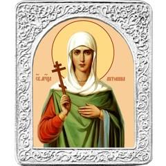 Святая Антонина. Маленькая икона в серебряной раме.