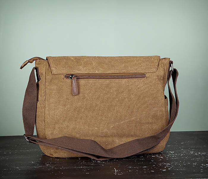 BAG504-2 Мужской портфель из ткани коричневого цвета фото 07