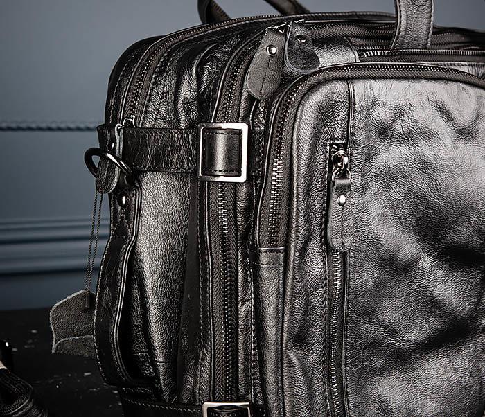 BAG512-1 Портфель рюкзак трансформер из натуральной кожи фото 03