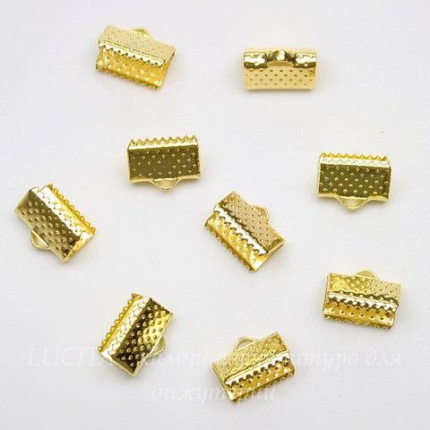 Концевик для лент 10 мм (цвет - золото), 10 штук