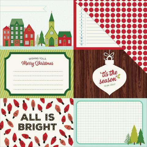 Лист с журнальными карточками 30*30 см Christmas Magic