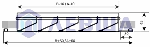 ЛВН 400х200 Решетка наружная