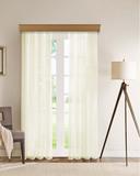 Длинные шторы. Тюль вуаль Classic Voile-2 (сливоч.)
