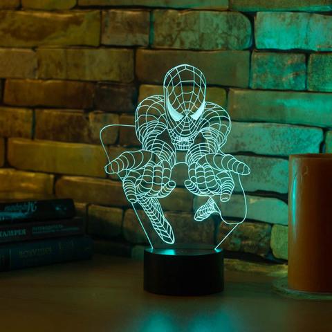 3D светильник Человек паук #3