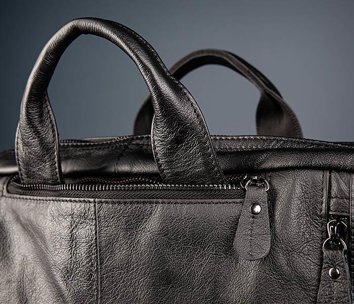 BAG512-1 Портфель рюкзак трансформер из натуральной кожи фото 06