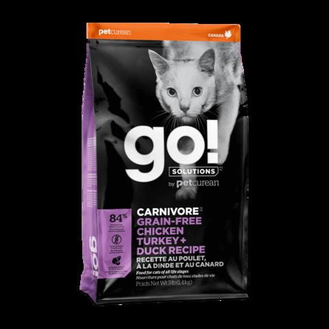 Go! Carnivore Сухой корм для кошек и котят 4 вида мяса с курицей, индейкой, уткой и лососем (беззерновой)