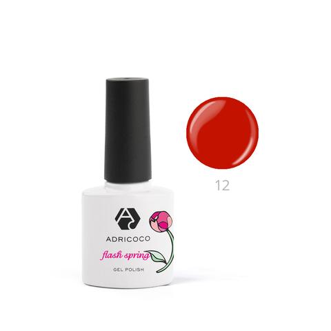 Гель-лак ADRICOCO Flash Spring №12 Красная ягода (8 мл.)