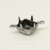 Сеттинг - основа - коннектор (1-1) для страза 8х8 мм (оксид серебра)
