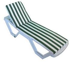 Матрас для шезлонга и лежака бело-зеленый