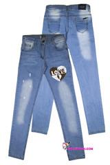 720 джинсы сердце блеск