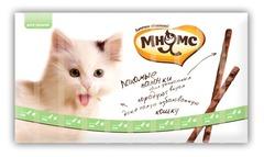 Мнямс лакомство для кошек палочки со вкусом утки и кролика 1*10