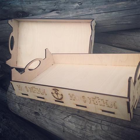 Ящики для выкладки выпечки с логотипом, 30х60см