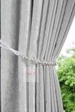 Лоран (серый). Шторы из стриженного бархата.