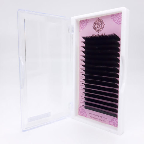 Ресницы черные Enigma, изгиб L (16 линий)