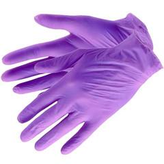 EleGreen, Перчатки нитриловые неопудренные (сиреневые), размер XS, 100 шт