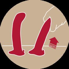 Насадка для страпона - анальный фалоимитатор MAGNUM (18,4х3,8 см) (цвета в ассортименте)