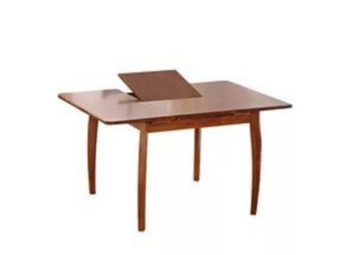 Стол обеденный SQ36 деревянный квадратный раскладной античный дуб