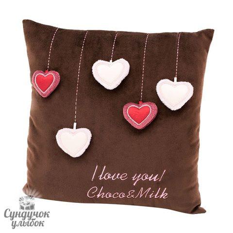Подушка Choco сердечки CP111