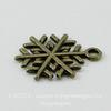"Подвеска ""Снежинка"" 19х17 мм (цвет - античная бронза)"